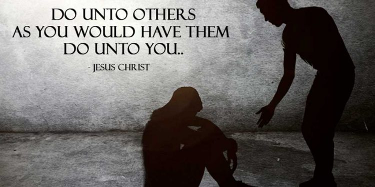 Message of the day - Do unto others as you would have them do unto you