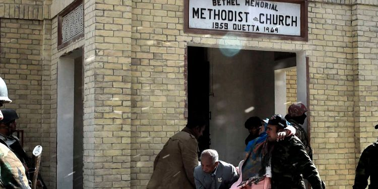 Bethel Memorial Methodist Church Quetta - Suicide Attack 17.12.2017 - Johnson George